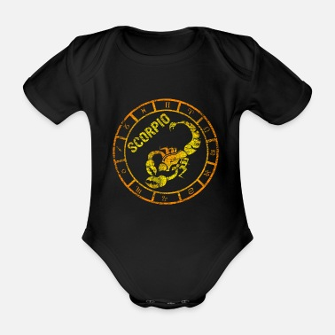 Sign Cool scorpio zodiac zodiac sign - Organic Short-Sleeved Baby Bodysuit