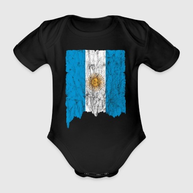 Argentina Flag Used Look Idea de regalo - Body orgánico de maga corta para bebé