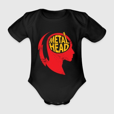 Metal Head Gift Christmas Music Rock - Organic Short-sleeved Baby Bodysuit