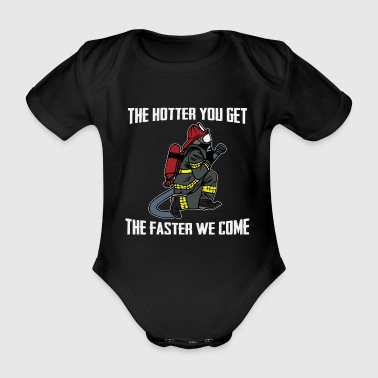 Fire Department Fire department cat fire department - Organic Short-sleeved Baby Bodysuit