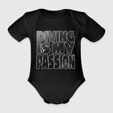Diver sea underwater motive - Organic Short-sleeved Baby Bodysuit
