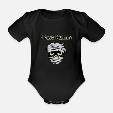 Mummy mummy - Organic Short-sleeved Baby Bodysuit