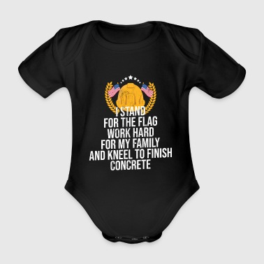 Schule Betonflagge Shirt Concreter Construction Worker - Baby Bio-Kurzarm-Body