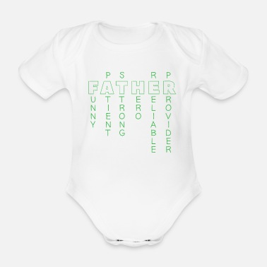 Description Father Description - Organic Short-Sleeved Baby Bodysuit