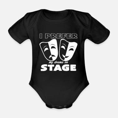 Theatre theatre - Organic Short-sleeved Baby Bodysuit