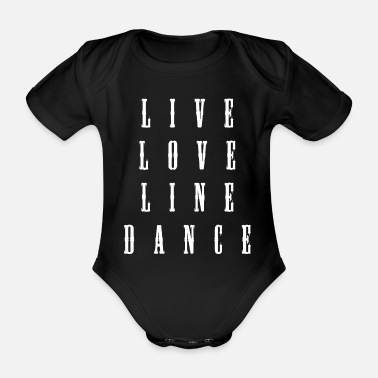 Country Line Square Country Dance - Ekologisk kortärmad babybody