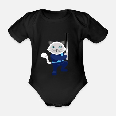 Kattunge Katt Sweet Babe Wars Star Jedi Movie - Økologisk kortermet baby-body