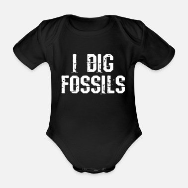Primeval Times Fossil Petrified primeval times - Organic Short-Sleeved Baby Bodysuit