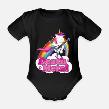 Heavy Metal Groupe de Heavy Metal T-Shirt Death Metal Licorne - Body bébé bio manches courtes