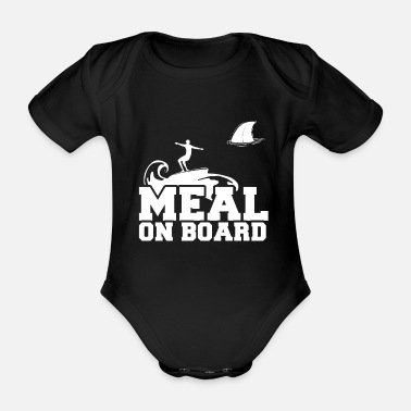 Meal Meal on board - Organic Short-Sleeved Baby Bodysuit