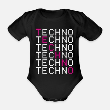 Techno Techno Techno - Organic Short-Sleeved Baby Bodysuit