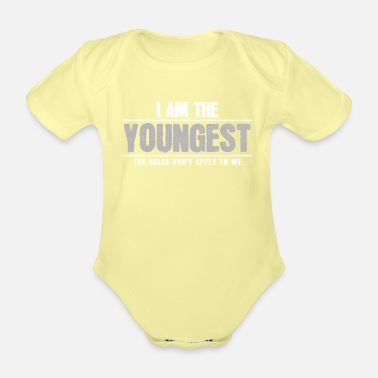 Siblings Youngest sibling - Organic Short-Sleeved Baby Bodysuit