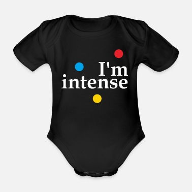 Hipster I'm Intense Slogan Graphic - Organic Short-sleeved Baby Bodysuit