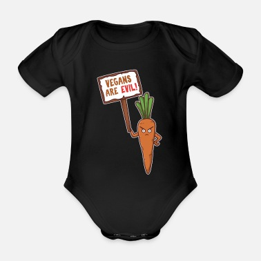 Planet Earth Vegans are evil - Organic Short-Sleeved Baby Bodysuit