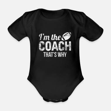 Head Coach American football sports head coach - Organic Short-Sleeved Baby Bodysuit