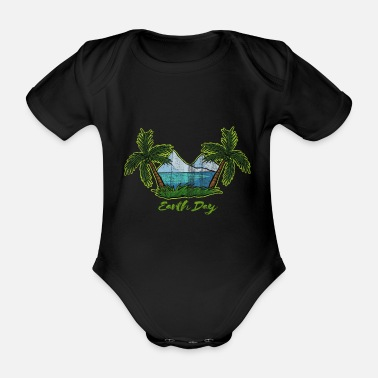 Earth Day Earth Day - Earth Day - Organic Short-Sleeved Baby Bodysuit
