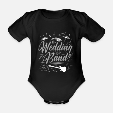 Wedding Band wedding - Organic Short-Sleeved Baby Bodysuit