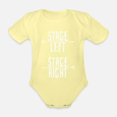 Theatre Stage music theater - Organic Short-Sleeved Baby Bodysuit