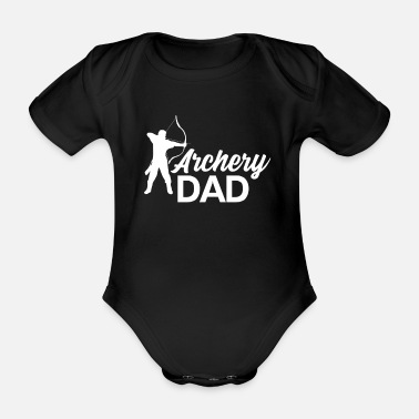 Archer Archery sport dad hunter arrow bow - Organic Short-Sleeved Baby Bodysuit
