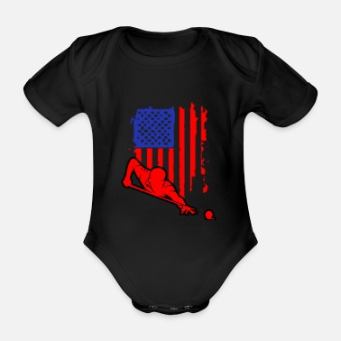 Billiards Training Billiards Pool Bar Snooker Sport Hobby Gift - Organic Short-Sleeved Baby Bodysuit