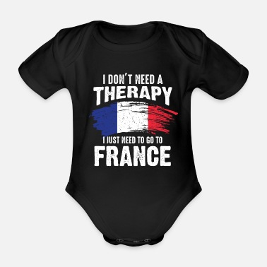 Home Country France home country - Organic Short-Sleeved Baby Bodysuit