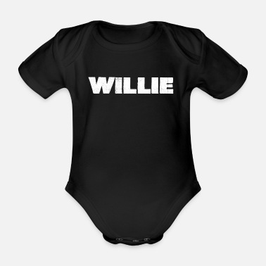 Distress Willie Distressed - Organic Short-Sleeved Baby Bodysuit