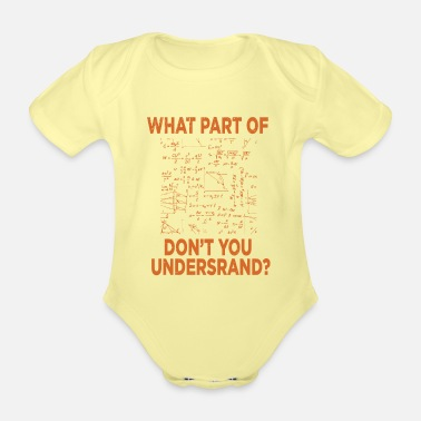 Physics Physics Science Science gift - Organic Short-Sleeved Baby Bodysuit