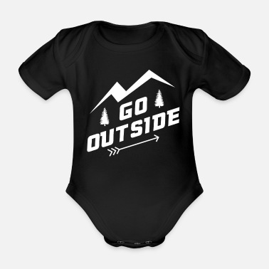 Landscape Go Outside - Organic Short-Sleeved Baby Bodysuit
