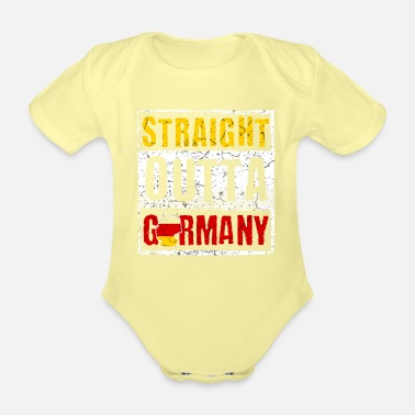 German Germany Germany German German Germans - Organic Short-Sleeved Baby Bodysuit