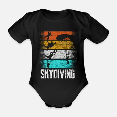 Aerial Sports Parachuting Retro Extreme Sport - Organic Short-Sleeved Baby Bodysuit