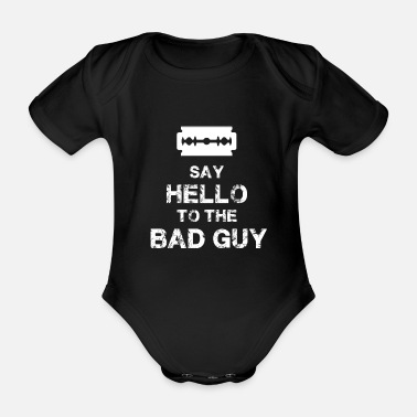 Bad Manners Bad guy - Organic Short-Sleeved Baby Bodysuit