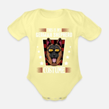 German German shepherd - Organic Short-Sleeved Baby Bodysuit