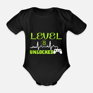 Today birthday 8 - Organic Short-Sleeved Baby Bodysuit