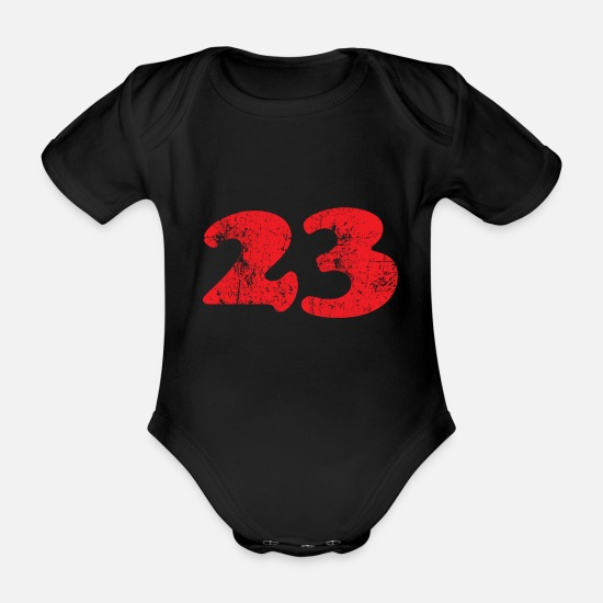 Lightning Baby Clothes - 23 vintage - Organic Short-Sleeved Baby Bodysuit black