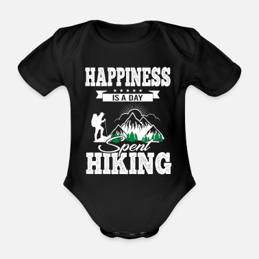 Energy Happiness Is A Day Spent Hiking - Organic Short-Sleeved Baby Bodysuit