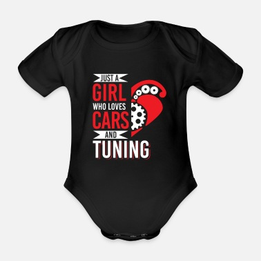 Garage Girl Loves Cars Tuning Mechatronic Tuner - Organic Short-Sleeved Baby Bodysuit