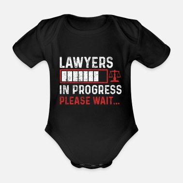 Lawyer Law student - Organic Short-Sleeved Baby Bodysuit