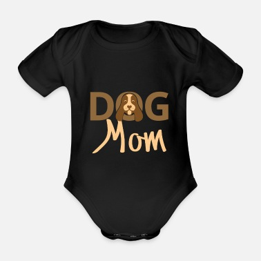 Dog Mom Dog mom. Dog mom dog love - Organic Short-Sleeved Baby Bodysuit