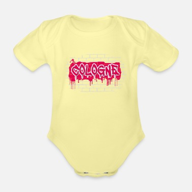 Local Patriotism Cologne Cologne Kölle Colonia Graffiti - Organic Short-Sleeved Baby Bodysuit