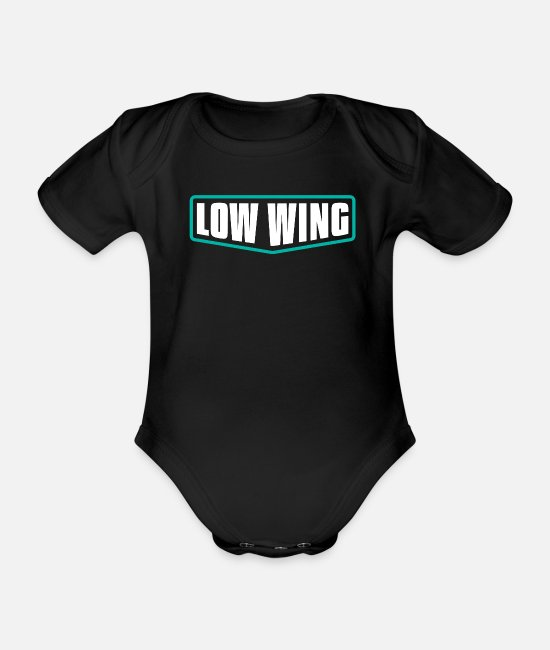 Pilot Baby Bodysuits - Low wing - Organic Short-Sleeved Baby Bodysuit black