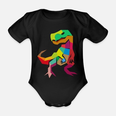 Archaeology Abstract T-Rex trex tyrannosaurus gift idea - Organic Short-Sleeved Baby Bodysuit