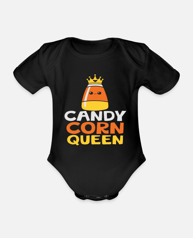 Cookie Baby bodies - Candy Corn Queen - Rompertje met korte mouwen zwart