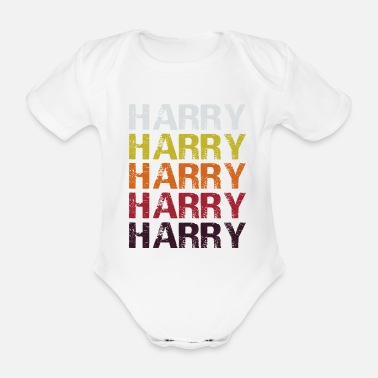 Harry Harry Harry patrón Harry letras - Body de manga corta bebé