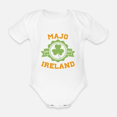 Majo Majo Ireland Counties Irish St Patricks Day Gift - Organic Short-Sleeved Baby Bodysuit