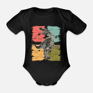 Primeval Times Dinosaur Suchomimus primeval time - Organic Short-Sleeved Baby Bodysuit