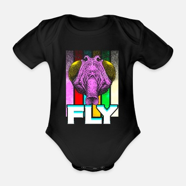 Fly-insect Fly insect - Organic Short-Sleeved Baby Bodysuit