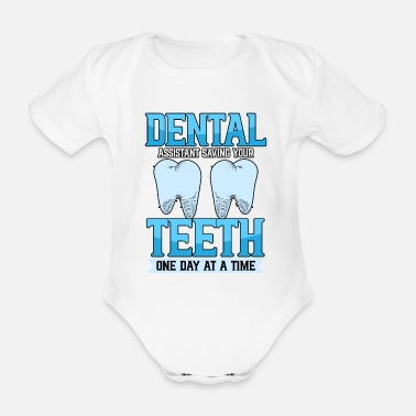 Dentist dental assistant orthodontist profession - Organic Short-Sleeved Baby Bodysuit