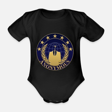 We Do Not Forgive Anonymous - We are anonymous shirt - Organic Short-Sleeved Baby Bodysuit