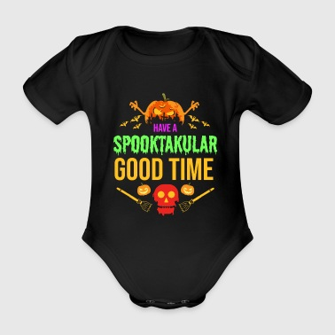 Spooktakular - Halloween Scary Creepy Spooky - Organic Short-sleeved Baby Bodysuit