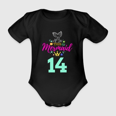 Fantasy 14 Birthday Girl Six 14th Birthday Boy Girl Kids - Organic Short-sleeved Baby Bodysuit